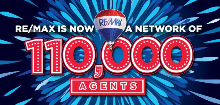 REMAX is 110,000 Agents Strong
